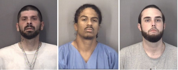 Three men arrested for shoplifting wire at Lowe's